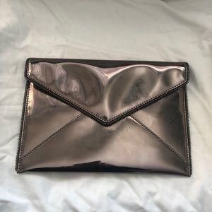 Brand New Beautiful Gray Metallic Clutch